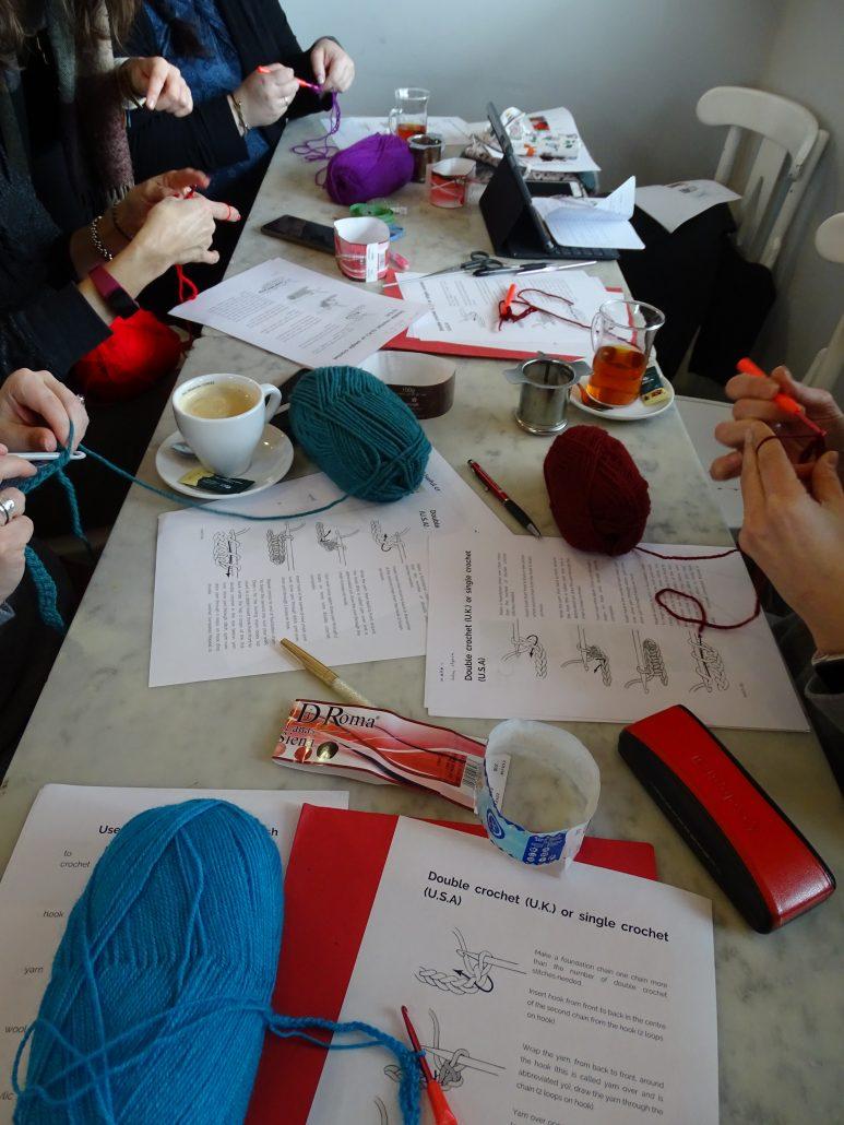 Eventos en inglés - taller de crochet